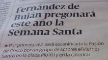 Fernández de Buján pregonará este año la Semana Santa