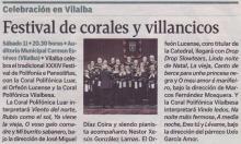 Festival de Corales y Villancicos