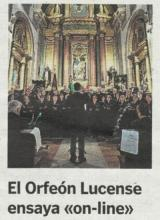 "El Orfeón Lucense ensaya ""on-line"""